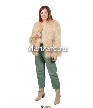 Шуба из меха ламы автоледи  арт. 0117-00