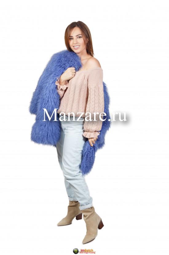 Шуба из меха ламы  арт. 0122-00