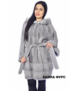 ШУБА СЕРАЯ из меха НОРКИ - арт. 626
