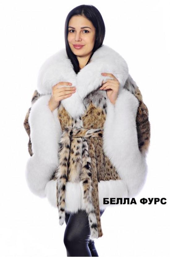 ШУБА ИЗ МЕХА РЫСИ - АРТ. 617