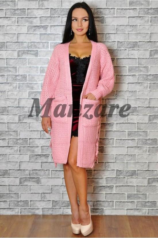 Кардиган вязаный ярко-розовый Арт.: 840