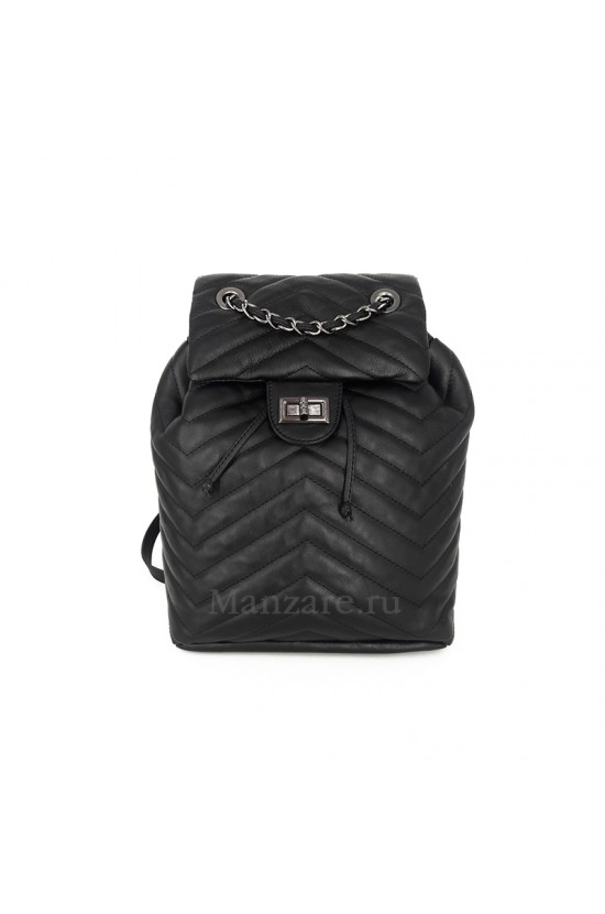 Кожаный рюкзак GOTHIC, цвет черный