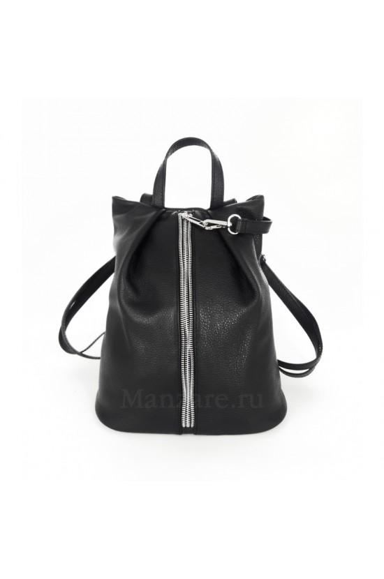 Кожаный рюкзак NEAPOLIS, цвет чёрный