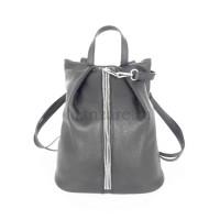 Кожаный рюкзак NEAPOLIS, цвет серый АРТ. 2014