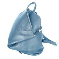 Кожаный рюкзак SALERNO, цвет голубой арт. 2012