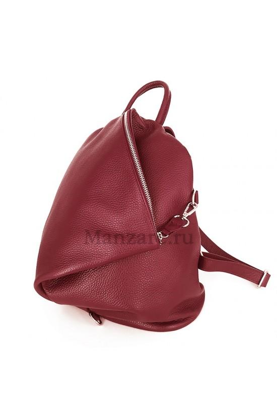 Кожаный рюкзак SALERNO, цвет кармин арт. 2007