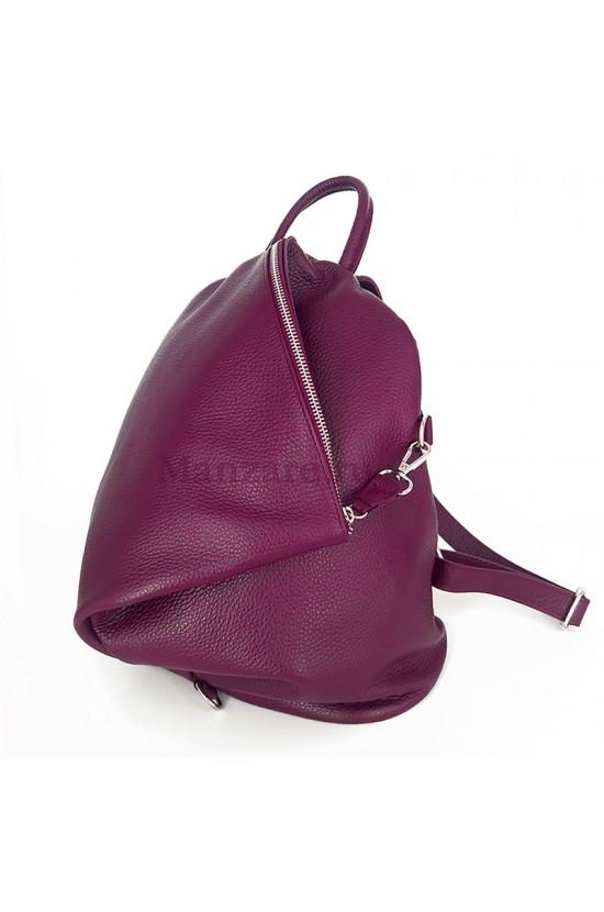 Кожаный рюкзак SALERNO, цвет малина