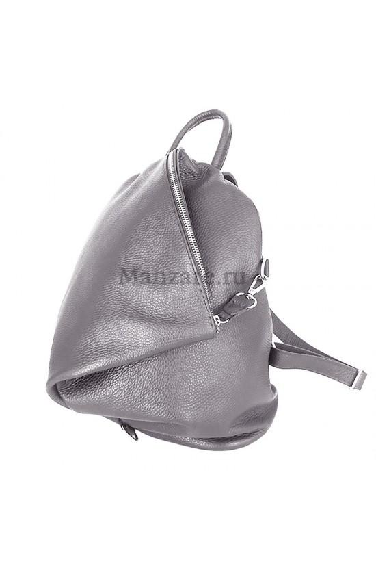 Кожаный рюкзак SALERNO, цвет пепельный  арт. 2006