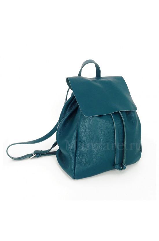 Кожаный рюкзак SIENA, цвет морская волна арт.  2021