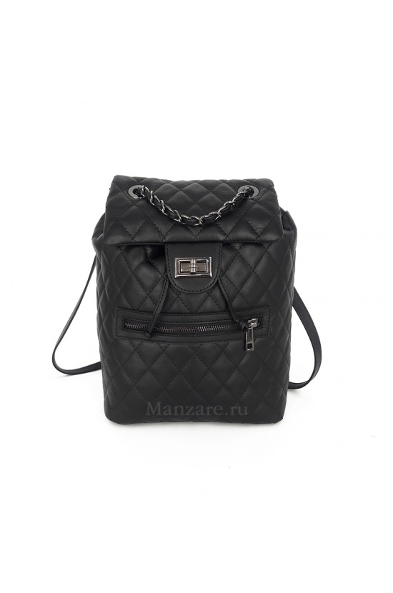 Кожаный рюкзак TRENTO, цвет черный арт.  2025