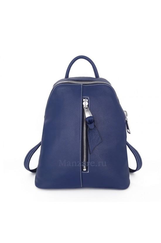 Кожаный рюкзак TURIN, цвет синий